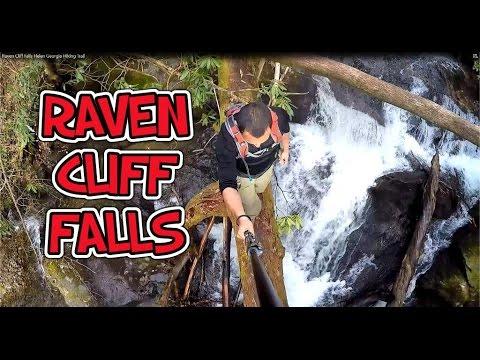 Hiking Raven Cliff Waterfalls Trail  Helen Georgia