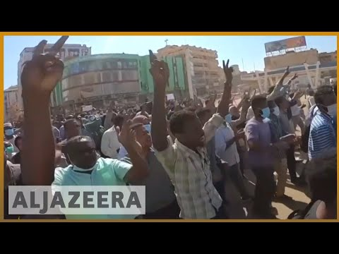 🇸🇩Sudanese police fire tear gas to block protest march | Al Jazeera English