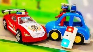 Мультики про машинки. Супер гонки в ЛЕГО городе - Кот попал в беду. Сборник мультфильмов для детей