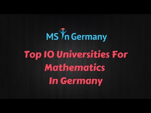 Top 10 Universities For Mathematics In Germany (2018) - MS In Germany™