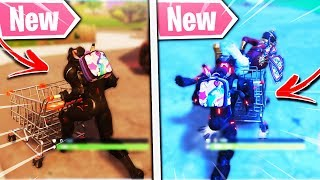 """New """"FORTNITE SHOPPING CART GAMEPLAY!"""" HOW TO FIND SHOPPING CARTS! Fortnite Shopping Cart Locations!"""