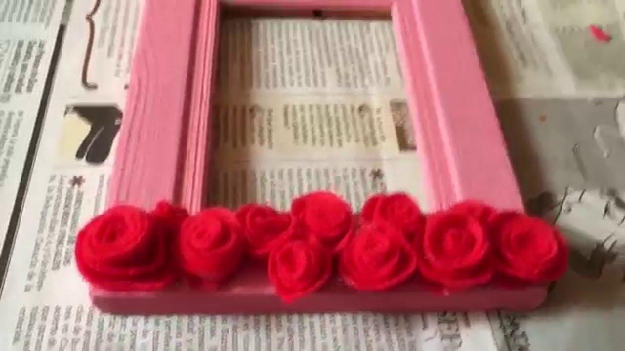 DIY Regalo fácil y bonito para tu pareja ( marco decorado facilísimo ...