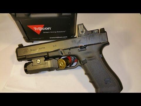 Glock 34 MOS 9mm Trijicon RMR Red Dot Sight Slide Mount Installation