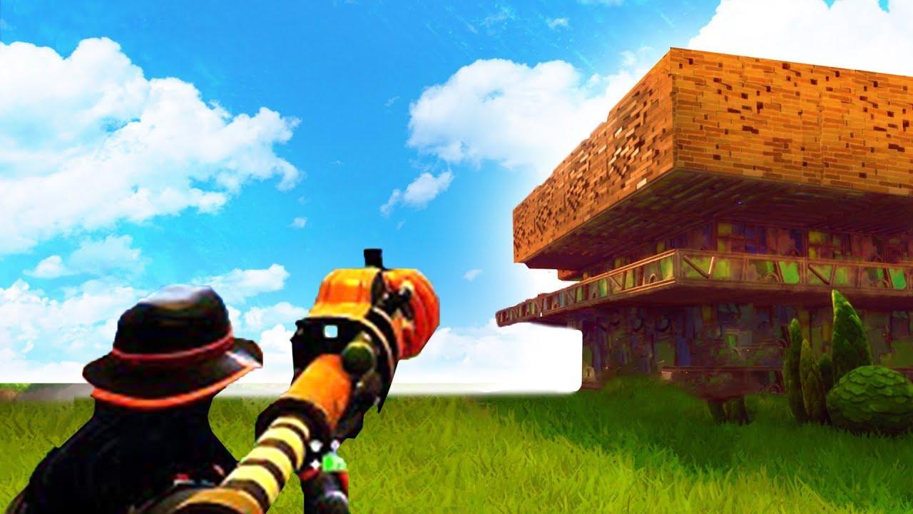 destroying a mega base team fortnite battle royale - blue sky fortnite