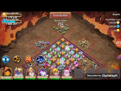 Castle Clash Expert Dungeon 7-4 100% Smurf (FTP)