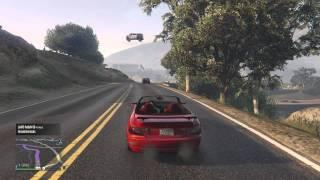 GTA V - FLOATING COP VAN?!