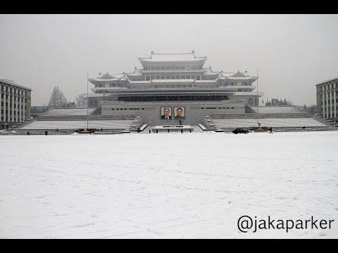 Snowy Morning at Kim Il Sung Square, Pyongyang, North Korea