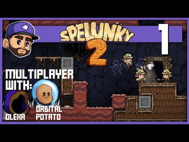 Spelunky 2 Multiplayer w: @Olexa & @Orbital Potato | Ep1