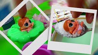 Пупсы малышки LOL Surprise Lil Sister Dolls Baby 2 в СЛАЙМЕ в СЛИЗИ и во ЛЬДУ Куклы лол подарки