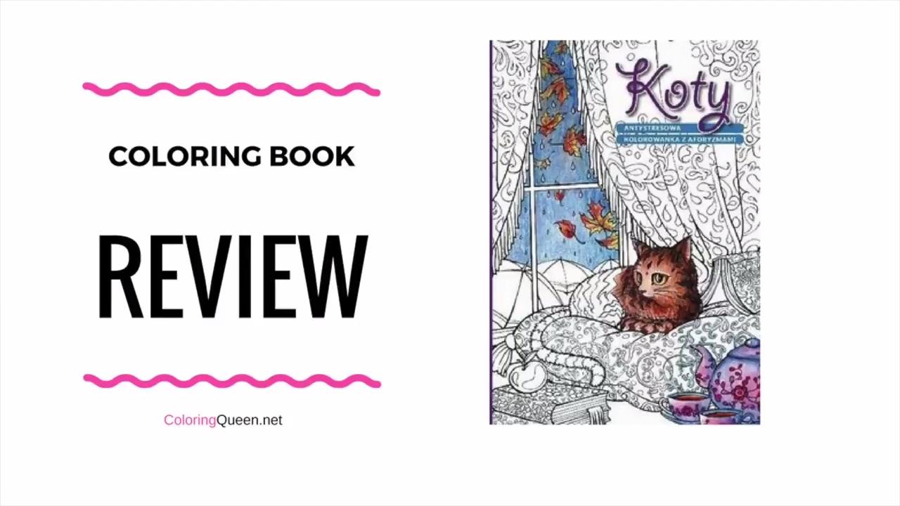 Koty Kolorowanka Antystresowa Coloring Book Barbara Sobczyńskac