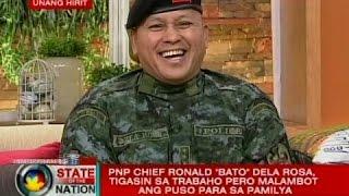"""SONA: PNP Chief Ronald """"Bato"""" Dela Rosa, tigasin sa trabaho pero malambot ang puso para sa pamilya"""