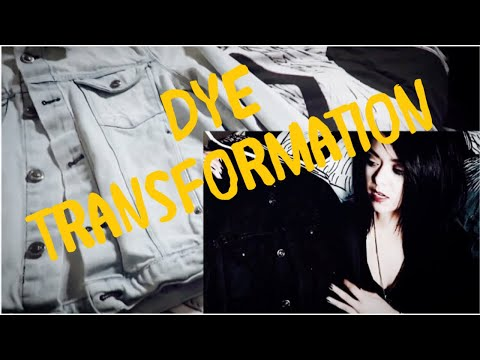 Dyeing Bright Clothes BLACK! (Thrifty Goth DIY)