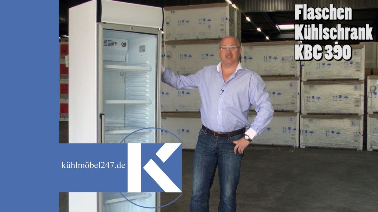 Getränkekühlschrank KLEO - www.kuehlmoebel247.de - YouTube