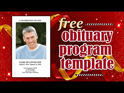 Free Obituary Program - Obituary Templates