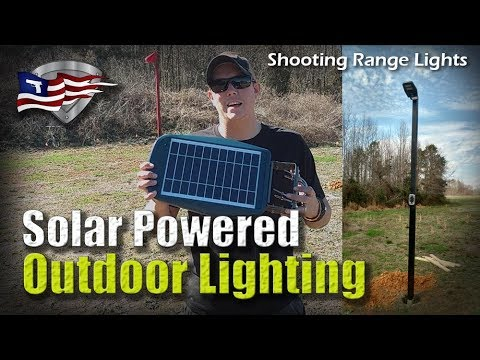 Solar Outdoor Lighting Solutions / Shooting Range Lights
