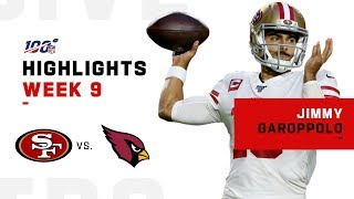 Jimmy Garoppolo Flies High w/ 4 TDs! | NFL 2019 Highlights