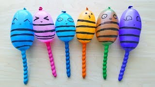 Making Crunchy with funny balloons BeeS - Satisfying Crunchy Slime