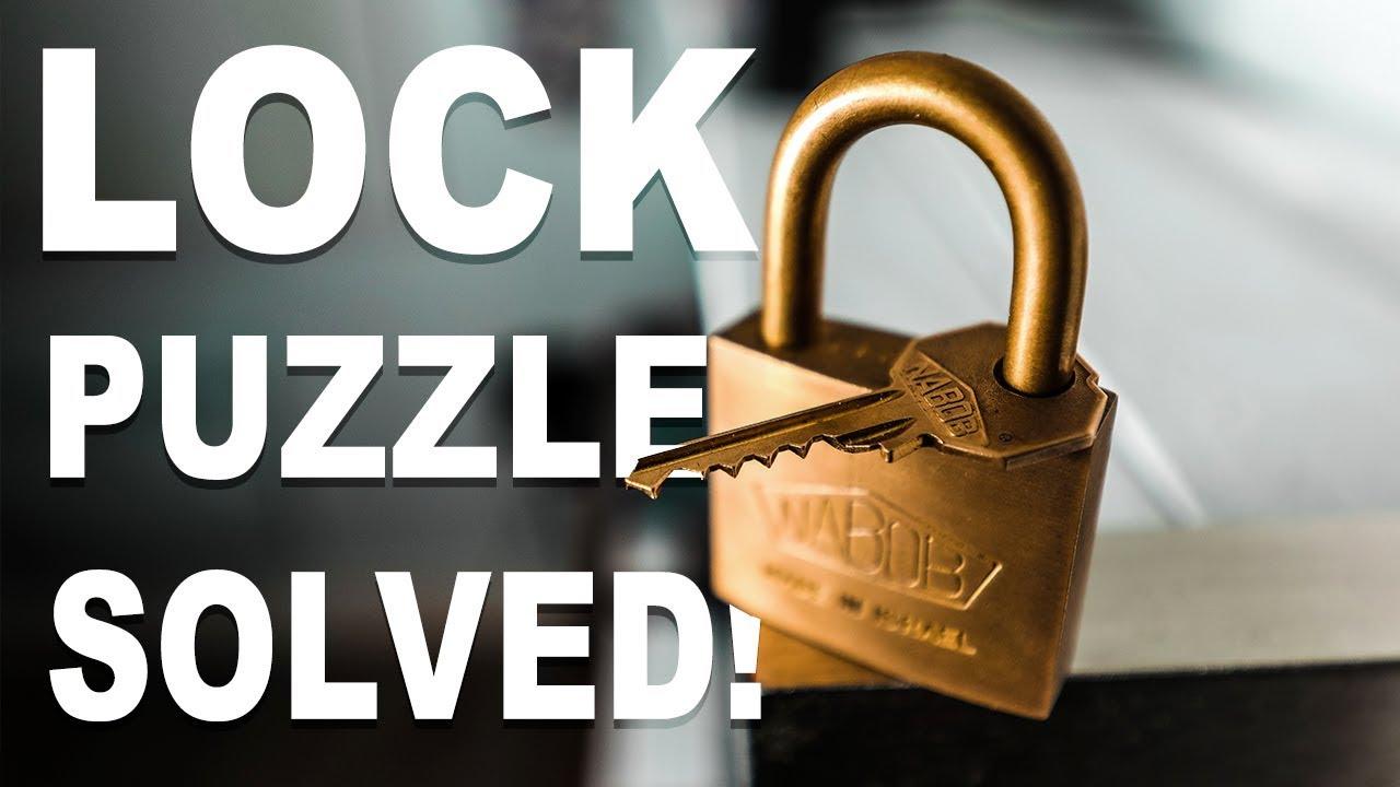How To Remove Broken Key From Lock >> Solving the IMPOSSIBLE Lock Puzzle!! - YouTube