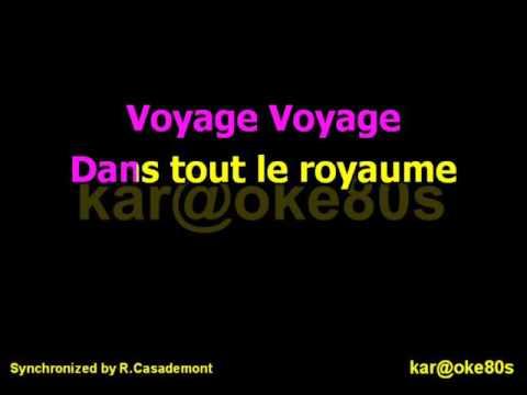 Voyage Voyage 2016 karaoké