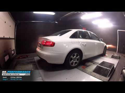 Reprogrammation Moteur Audi A4 B8 2.0 TDI CR 120hp @ 192hp par BR-Performance