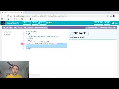 Intro To HTML / CSS In Code.org's Web Lab