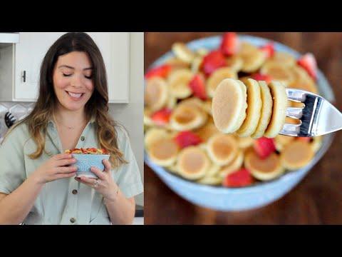 Mini Pankek Tarifi | Pankekten Kahvaltılık Gevrek (Pancake Cereal) Nasıl Yapılır? | Canan Kurban