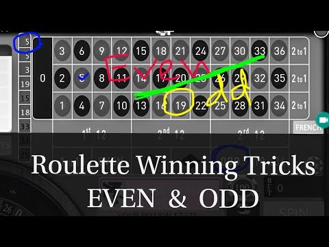 ( EVEN And ODD Numbers ) Online Roulette Winning System