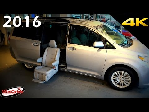 2016 Toyota Sienna XLE Auto Access Seat AAS Mobility - Ultimate In-Depth Look in 4K
