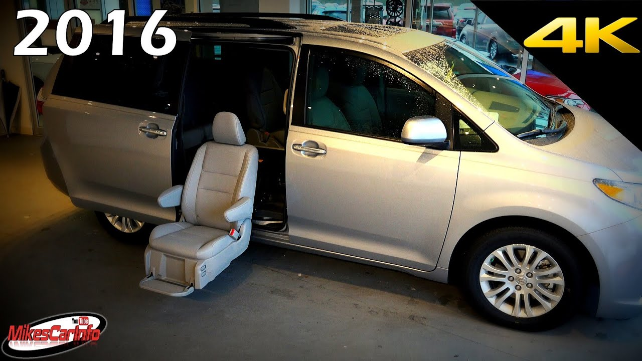 2016 toyota sienna xle auto access seat aas mobility ultimate in depth look in 4k youtube. Black Bedroom Furniture Sets. Home Design Ideas