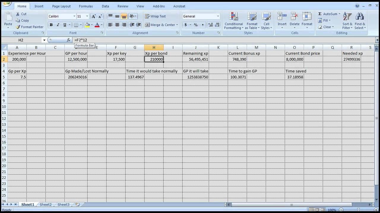 Runescape meteor storm calculator in excel youtube.