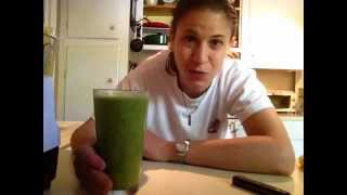 Green Smoothie Recipe- Mango-banana-orange Juice-coconut Water And Spinach