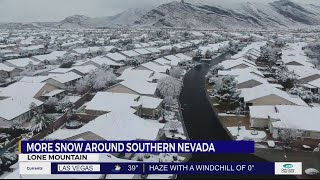 Snow blankets parts of Southern Nevada