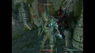 "Skyrim ""Missing in Action"" - Daedric Battleaxe Ownage"