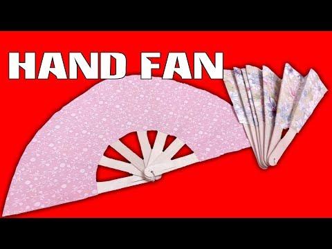 HAND FAN | HOW TO MAKE A CHINESE HAND FAN | DIY HAND FAN | JAPANESE FAN
