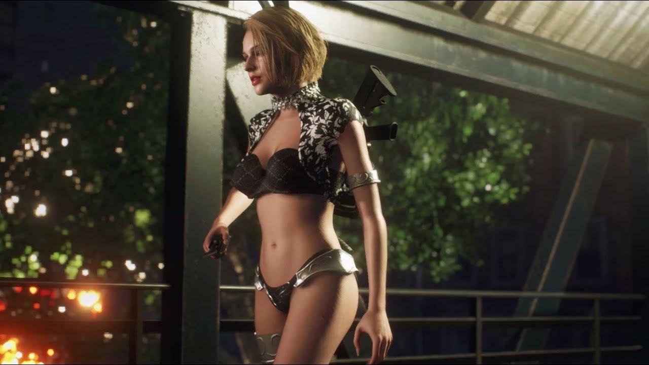 Resident Evil 3 Gameplay Jill Valentine Bunny Crop Top Bikini 4K 2160p (Jill Bikini)