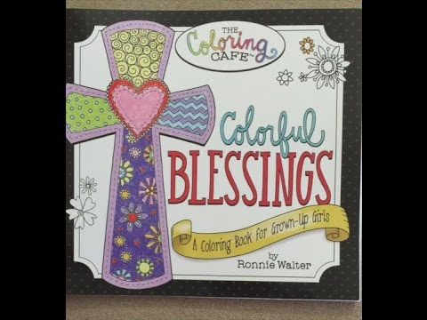 Colorful Blessings A Coloring Book For Grown Up Girls From The Cafe Flip Through