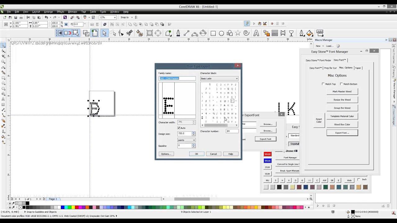 Macros for coreldraw x8 - Easy Stone Coreldraw Rhinestone Macro Creating A Ttf Font Start To Finish