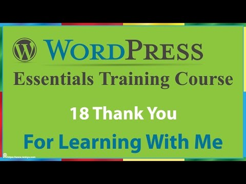 18 Outro Video for WordPress Essentials Training Course