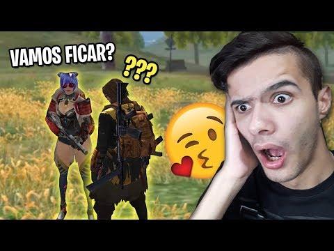 ELA QUIS FICAR COMIGO NO MEIO DA PARTIDA DE FREE FIRE