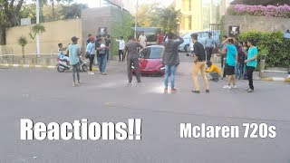 Last day of Mclaren 720s in Bangalore | REACTIONS | Unbelievable crowd | INDIA | #39