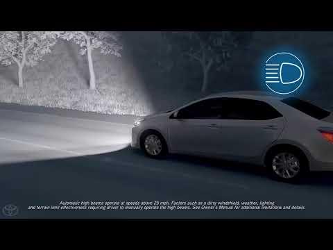 Toyota Safety Sense ™ Automatic High Beams (AHB) | Select Models | Toyota