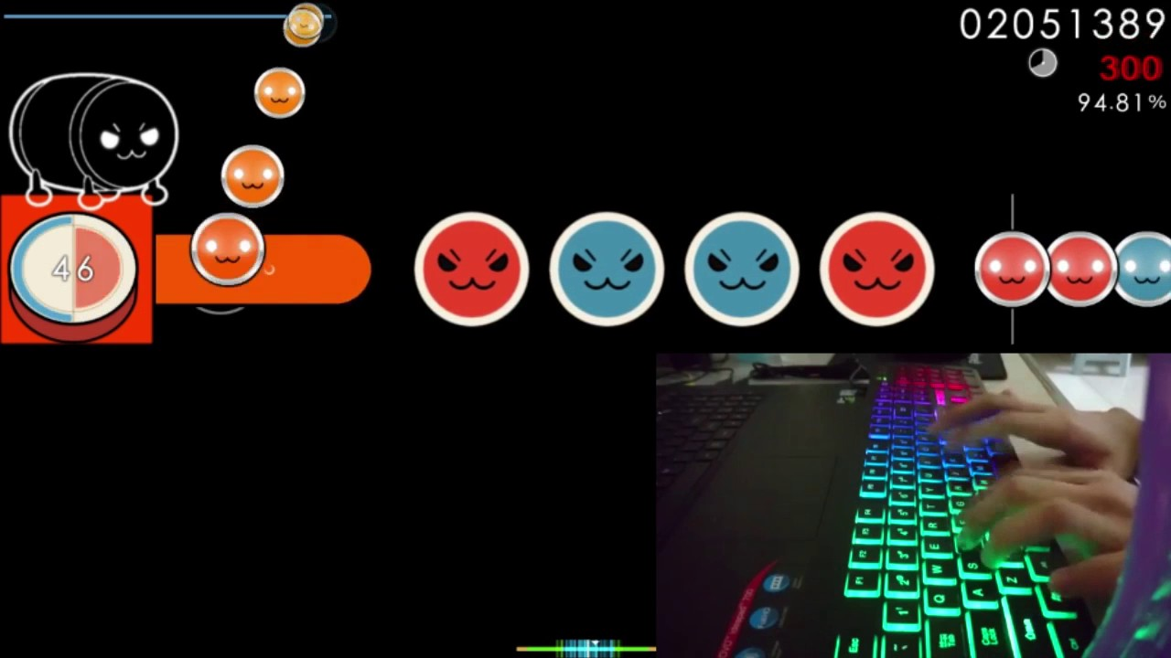 how to play osu taiko