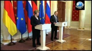 Deutliche Worte in Moskau: Merkel nimmt Putin in die Pflicht