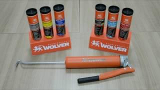 Использование фирменного рычажного шприца для смазок Wolver в евро-картушах.