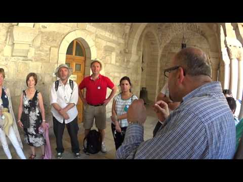 Church of the Nativity. Explanation of the grotto, where Jesus was born. Guide: Issa Ghanim