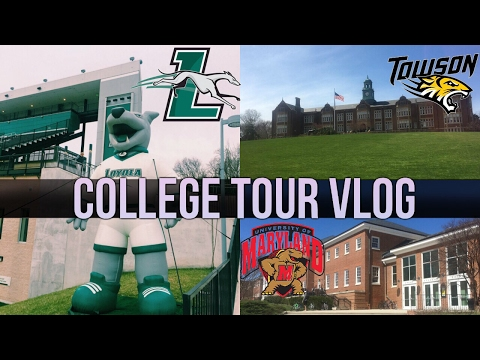 College Tour Vlog (University of Maryland, Towson + Loyola!!)