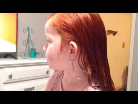 Toddler longest hair in the world.