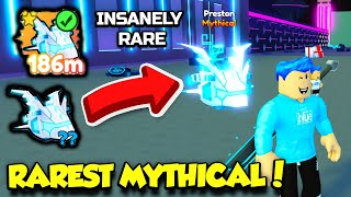 I ACTUALLY HATCHED THE RAREST MYTHICAL PET IN PET SIMULATOR X TECH WORLD!! (Roblox) screenshot 1