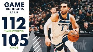 Full Game Highlights | Timberwolves 112, Kings 105