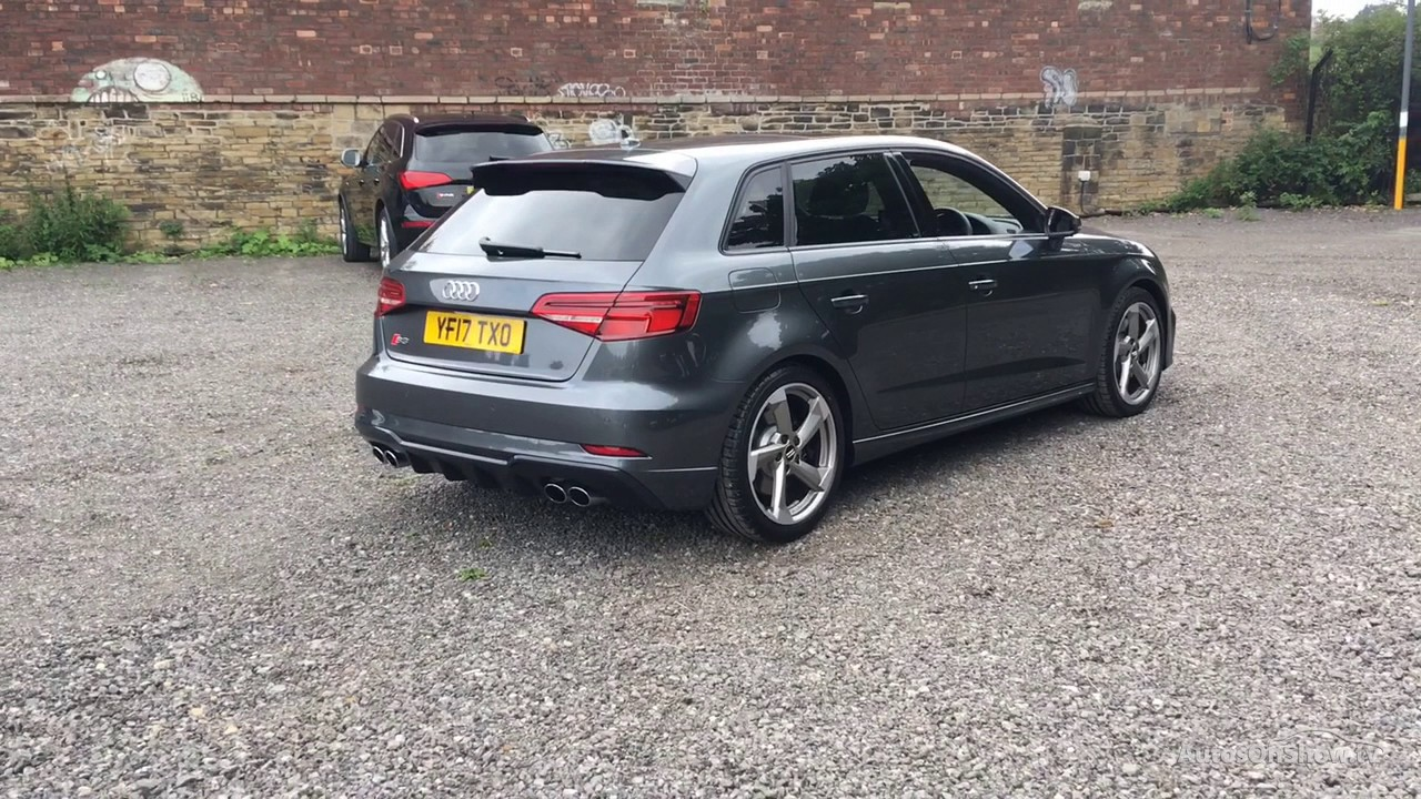 yf17txo audi a3 s3 sportback tfsi quattro black edition grey 2017 bradford audi youtube. Black Bedroom Furniture Sets. Home Design Ideas